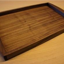 Serving tray, walnut
