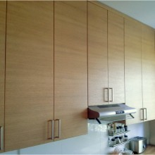 Kitchen with oak veneered doors